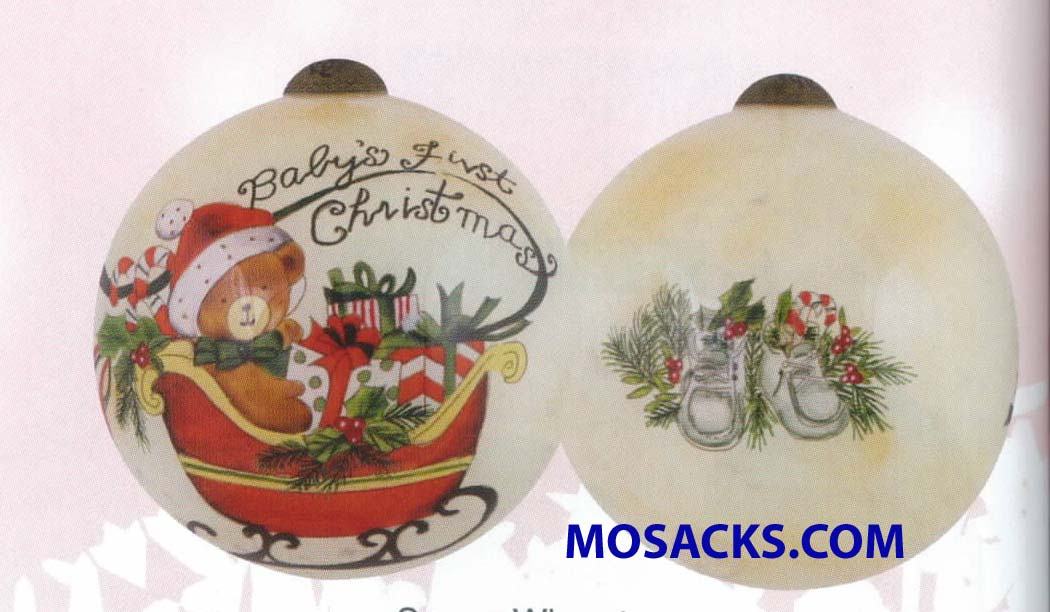 Ne'Qwa Art™ Hand-Painted Ornament Baby's First Christmas 466-7151177