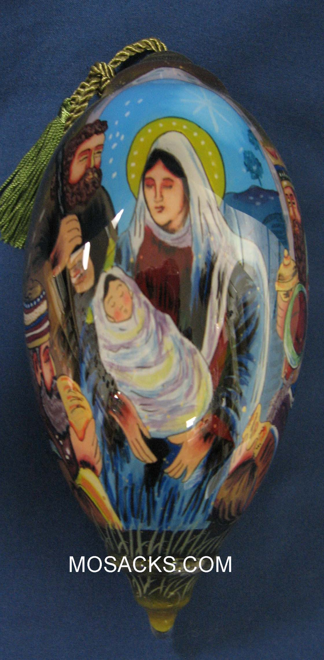 Ne'Qwa Art™ Hand-Painted Ornament Holy Night 759