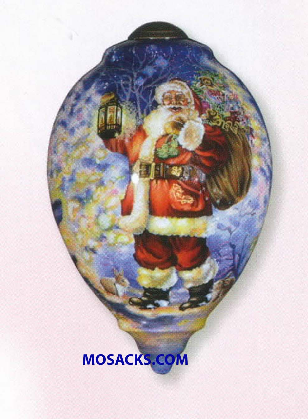 Ne'Qwa Art™ Hand-Painted Ornament Woodland Santa 466-7000558