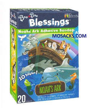 Noah's Ark BooBoo Blessings Adhesive Bandages 462-W201225