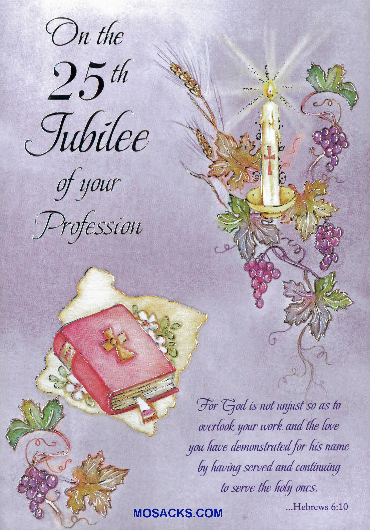 Jubilee anniversary of religious life greeting cards on the 25th jubilee of your profession greeting card jubs87447 kristyandbryce Images
