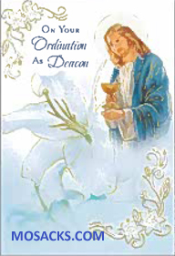 On Your Ordination As Deacon Greeting Card -DEAC87090