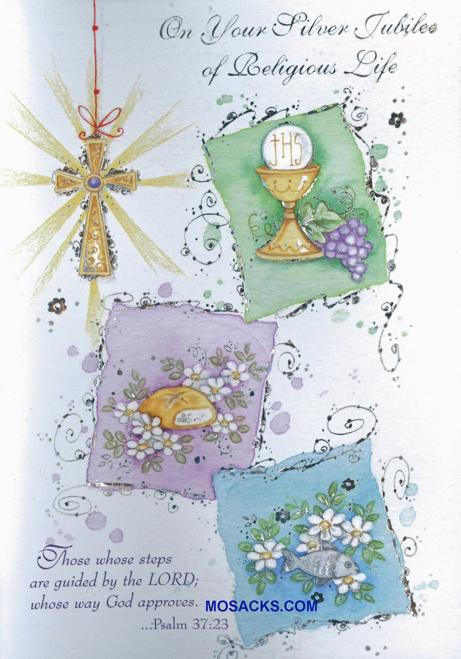 On your silver jubilee of religious life greeting card