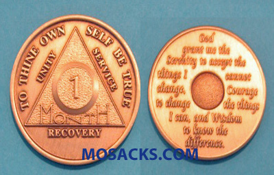 Anniversary Recovery Coin Bronze Monthly