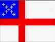 Episcopal Flag, 4x6 ft., nylon for outdoor use, 46229080
