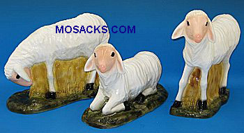 "Outdoor Nativity PVC 12"" Sheep Set of 3 - SA3653C"