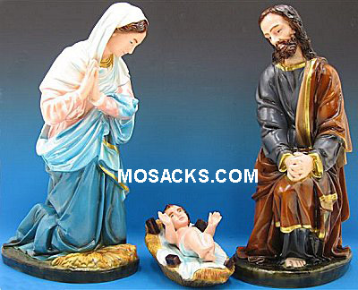 "Outdoor Holy Family Starter Set of 3 Nativity PVC 25""  -SA3650C"