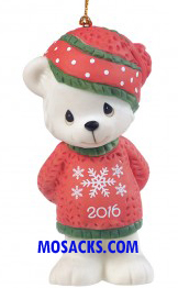 Precious Moments 2016 Beary Cozy Christmas Ornament -161007