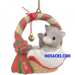 Precious Moments 2016 Meowie Christmas Cat Ornament-161009