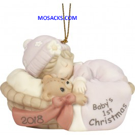 Precious Moments Baby's First Christmas 2018 Ornament Girl-181005