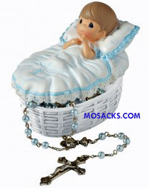 "Precious Moments ""Baptized In His Name"" Boy Rosary Box 153407"