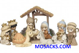 Precious Moments Come Let Us Adore Him 11 Piece Nativity Set-181034