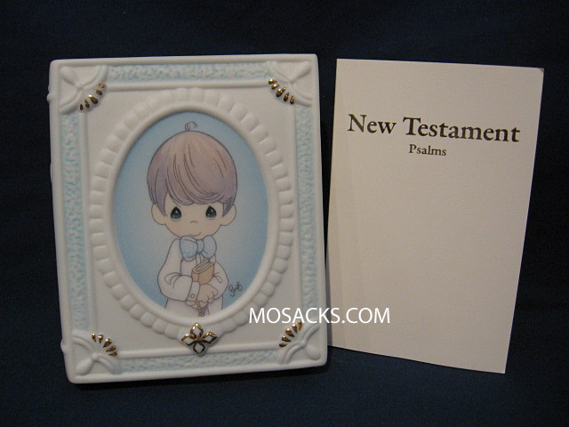 Precious Moments Communion Boy Bible/Holder 646466