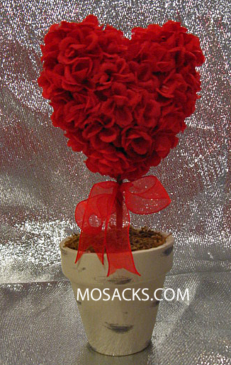 Precious Moments Red Heart Shaped Topiary 934022