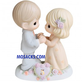 "PM I Fall In Love With You More Each Day, 5th Anniversary, 5""H 730006"