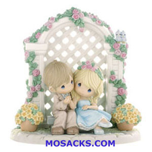 "Precious Moments I'm Forever By Your Side Porcelain Figurine 8.50"" H X 8.25"" W 910053"