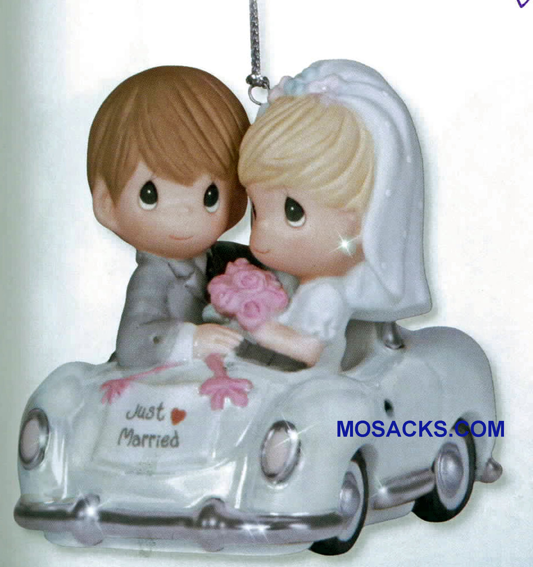 "Precious Moments Just Married Ornament 3"" H 131008"