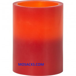 "Precious Moments LED Red Pillar Candle 4""h 171425"