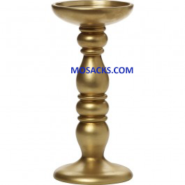 "Precious Moments Large Candle Holder Gold Finish 8""h 171424"