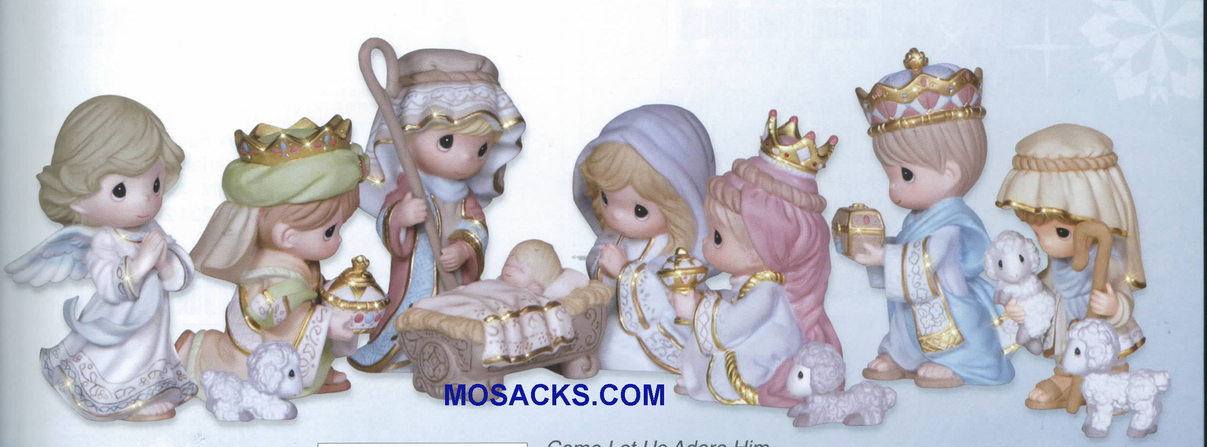 "Precious Moments Mini Nativity Come Let Us Adore Him 3.75"" H 131064"