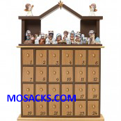 Precious Moments Nativity Advent Calendar with 24 figures &  Stable -181402