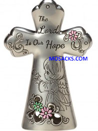Precious Moments The Lord Is Our Hope Zinc Cross-163423