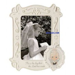 Precious Moments This Is The Day The Lord has Made Communion Girl Frame -153400