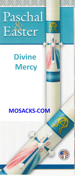 Classic Paschal Candle Divine Mercy