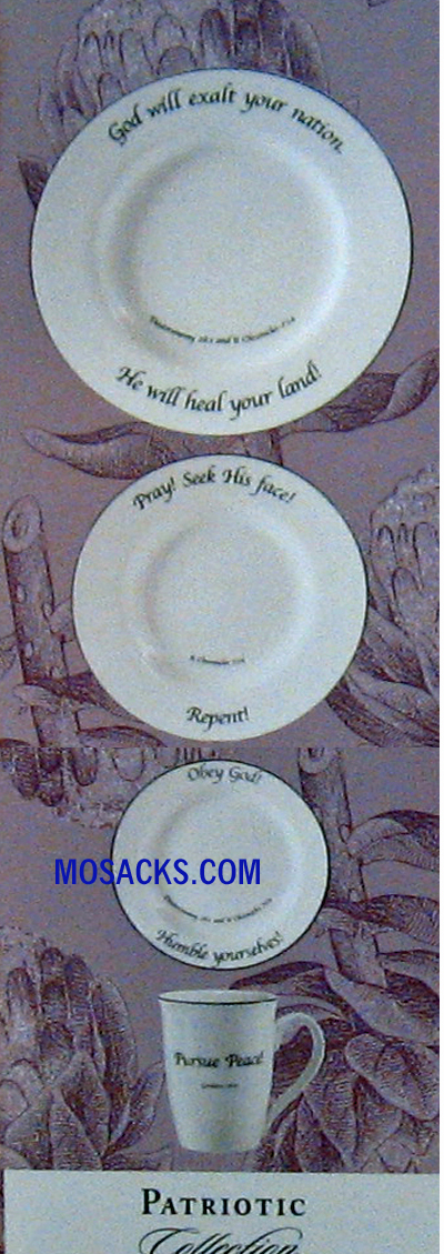"Feed on the Word ""Patriotic"" Scripture Tableware 5-Pc Place Setting #5-140-P"