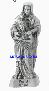Pewter Statue 2 Inch St Anne-JC3123E