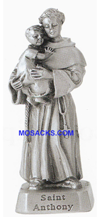 Pewter Statue 2 inch St. Anthony-JC3110E