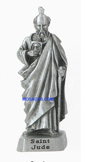 Pewter Statue 2 Inch St. Jude-JC3104E