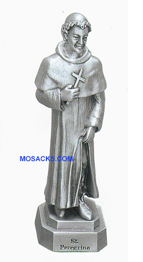 Pewter Statue St. Peregrine-JC3021E