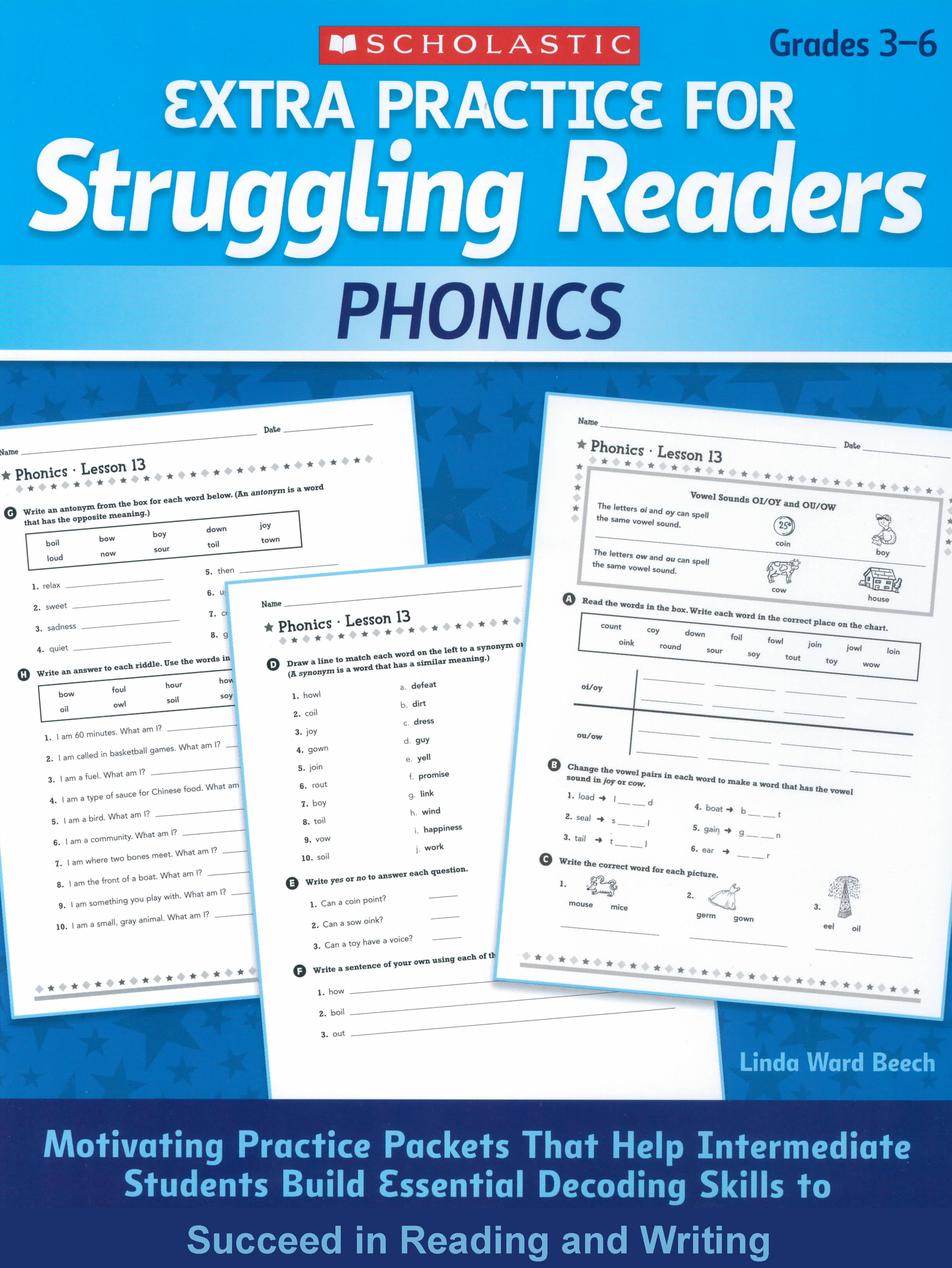 "Phonics Grades 3-6 (""Extra Practice) by Linda Ward Beech 108-9780545124096"