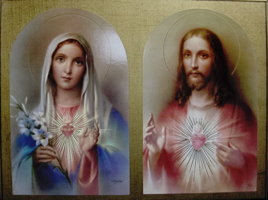 Sacred Heart of Jesus Immaculate Heart of Mary Picture  #L6724