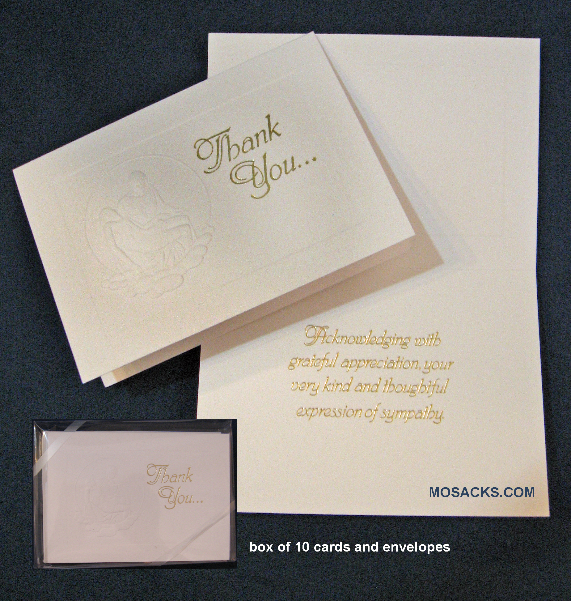 Pieta Thank You Sympathy Boxed Notes-289