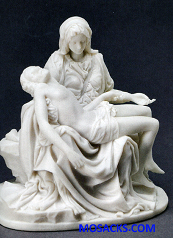 Galleria Divina Pieta White Resin 6 Inch figurine 20-44957