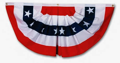 Polycotton Pleated Fan Flag, 4 ft. x 8 ft. 486360105S