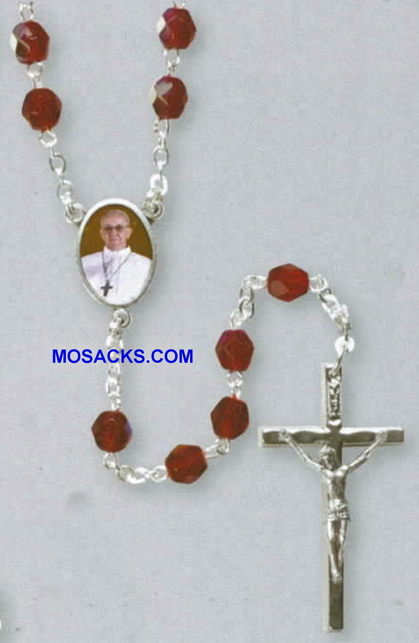 "Pope Francis Rosary 18"" Long 44023"