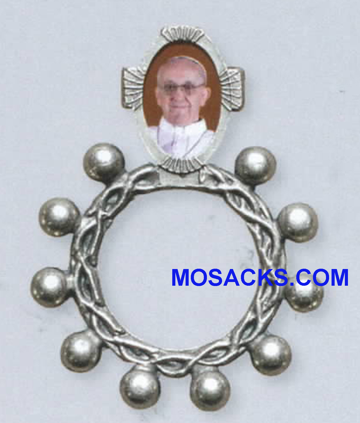"Pope Francis Rosary Ring 1.75""h 43092"