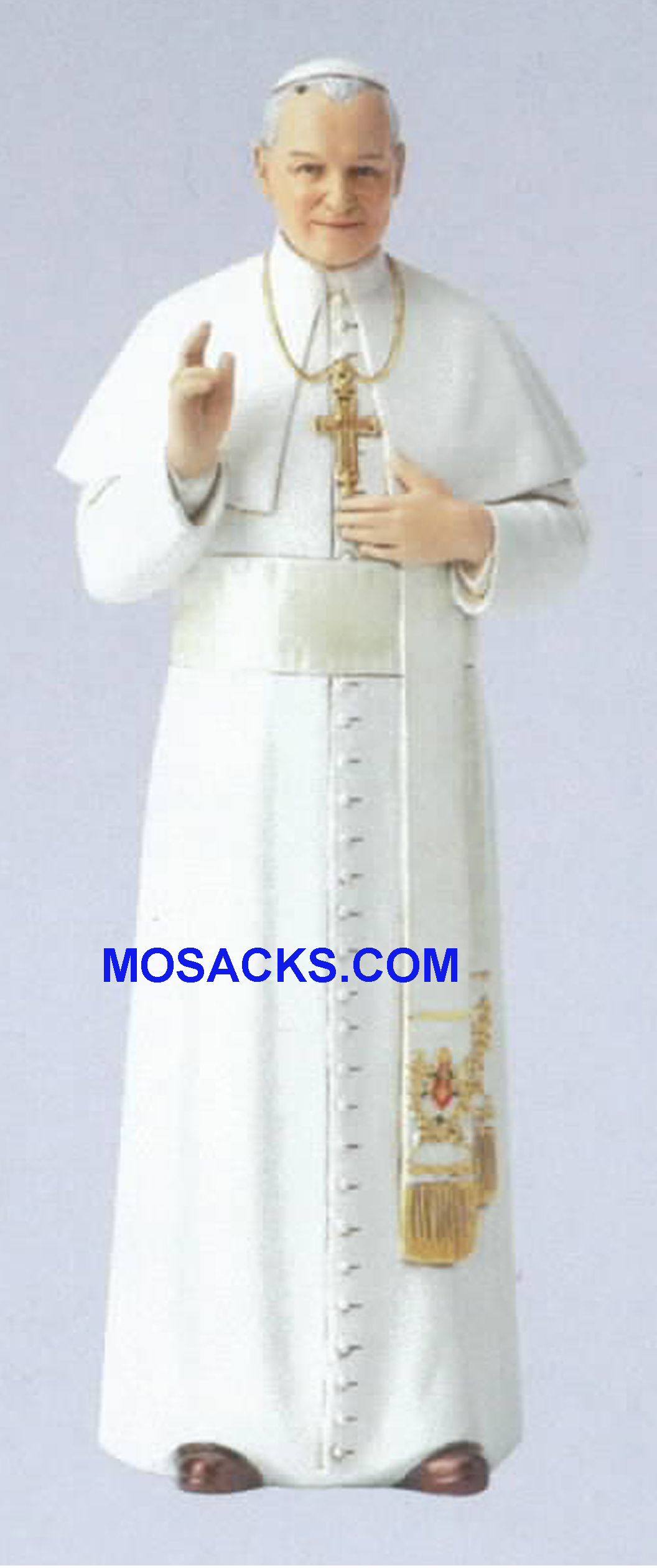 "Pope St. John Paul II Statue 6.25""h 66050 RETIRED"
