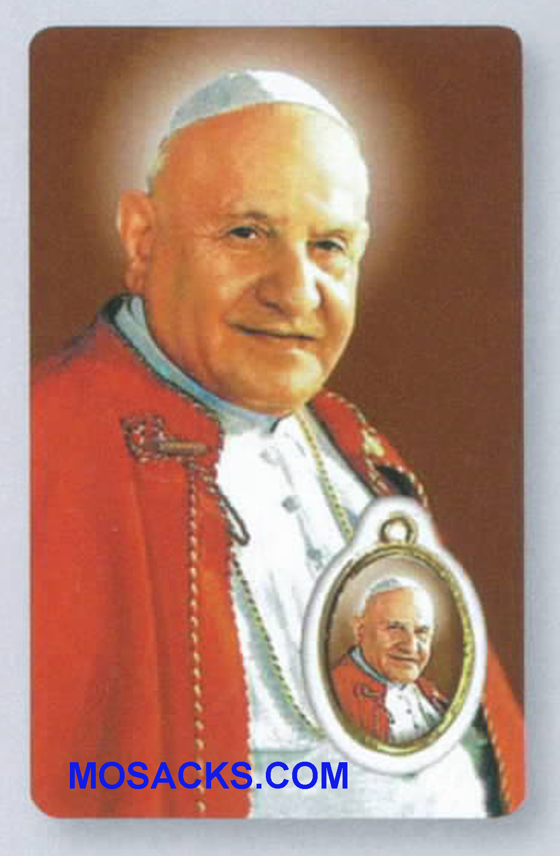 "Pope St. John XXIII Prayer Card with Token 3.5""h 43091"