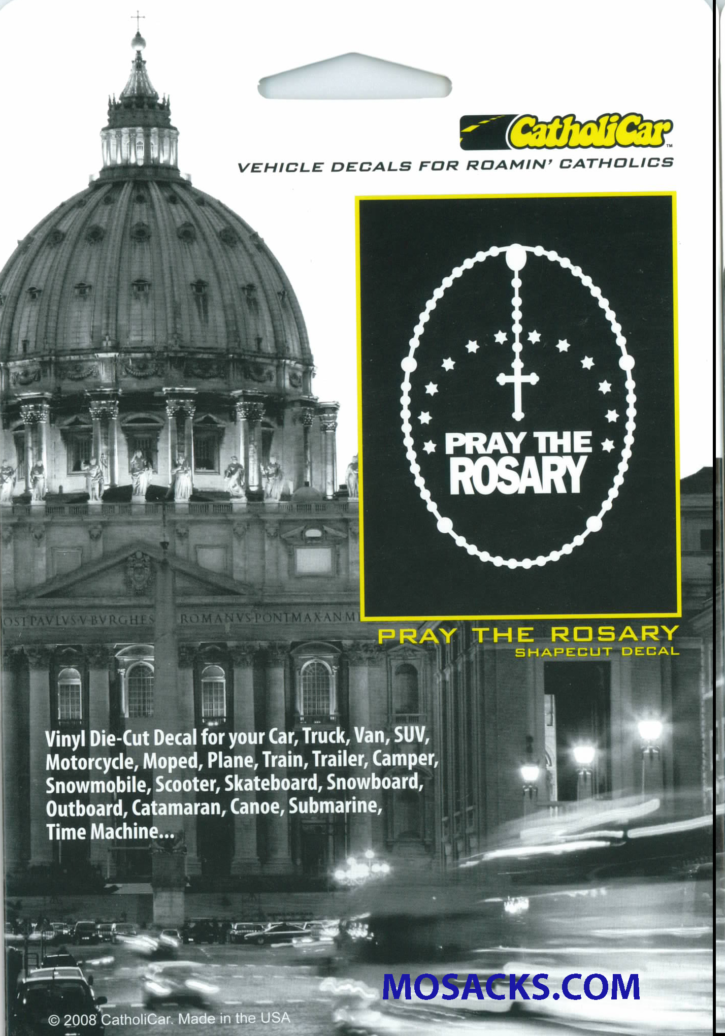 Pray The Rosary Window Decal-CCS25