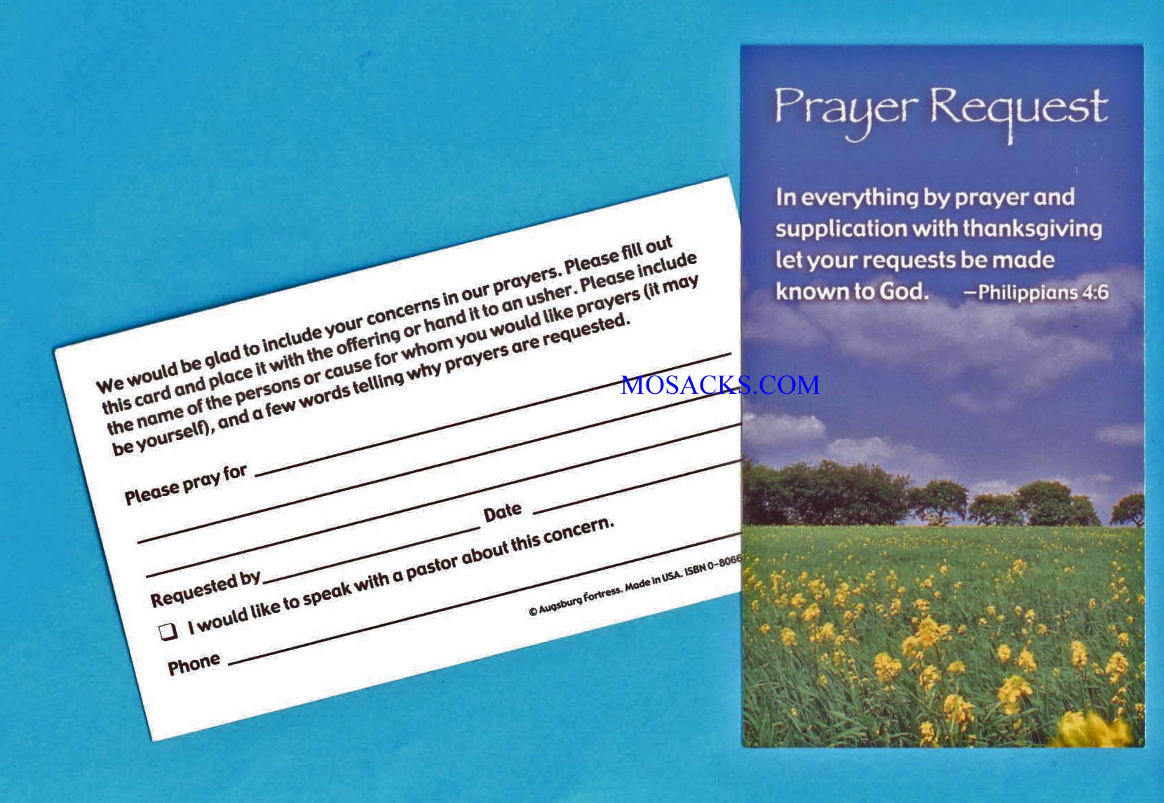 "Prayer Request Card 3"" x5"", 100 Count"