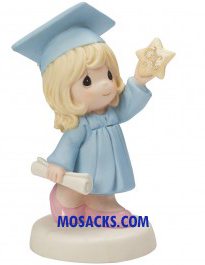 "Precious Moments 5"" Girl Graduate Reach for the Stars -154025"