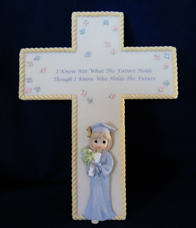 "Precious Moments 7 1/2"" Graduation Cross 744022"