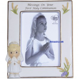 Precious Moments Communion Blessings Frame Girl -123410