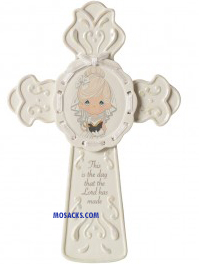 Precious Moments This Is The Day Communion Cross Girl- 153402