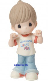 Precious Moments Grandma Loves Me Boy - 154033