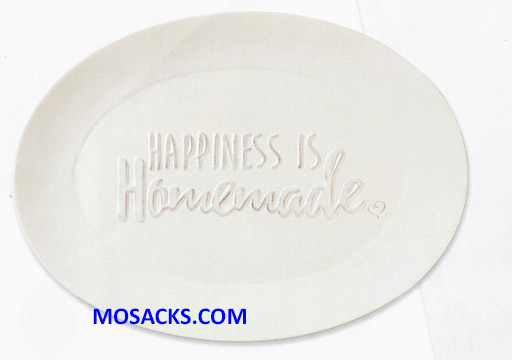 "Bountiful Blessings ""Happiness Is Homemade"" Ceramic Serving Platter 9.5"" x 13"" 182423"